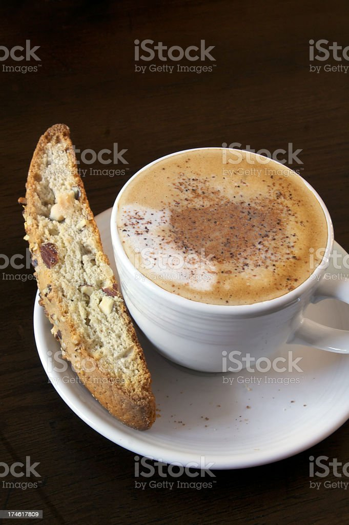 Coffee with biscotti royalty-free stock photo