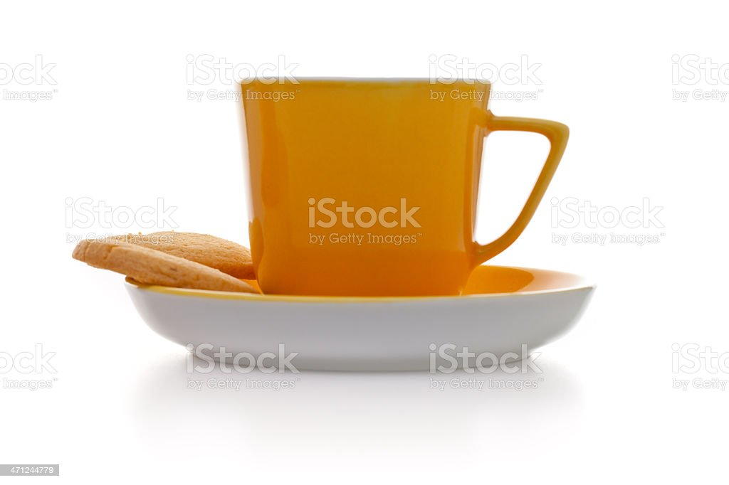 Coffee with buscuits royalty-free stock photo