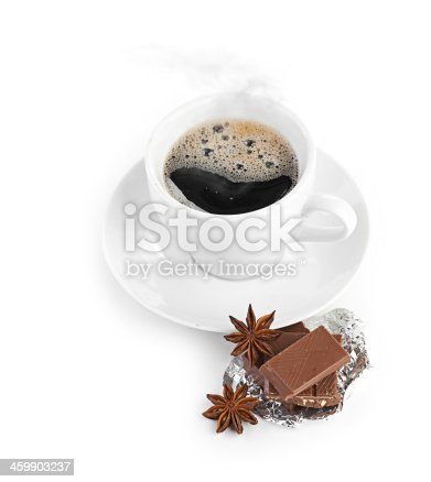 istock coffee with chocolate and dry breakfast 459903237