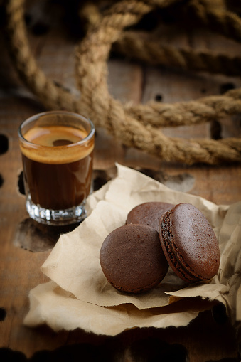 Café Y Almendrados De Chocolate Foto de stock y más banco de imágenes de 2015