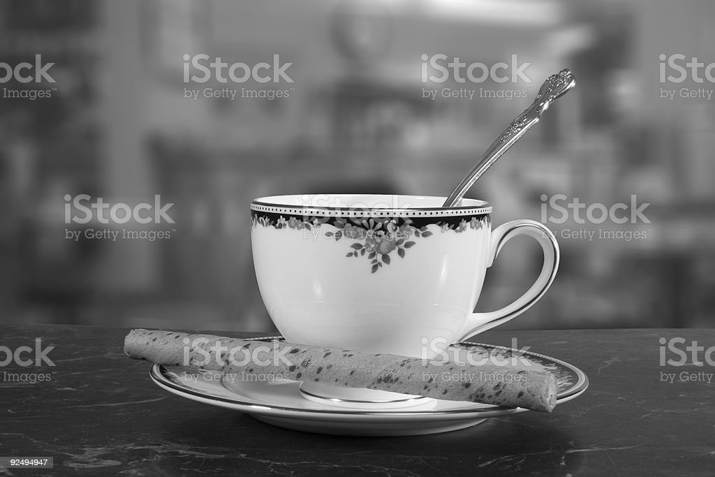 Coffee with Cookie royalty-free stock photo