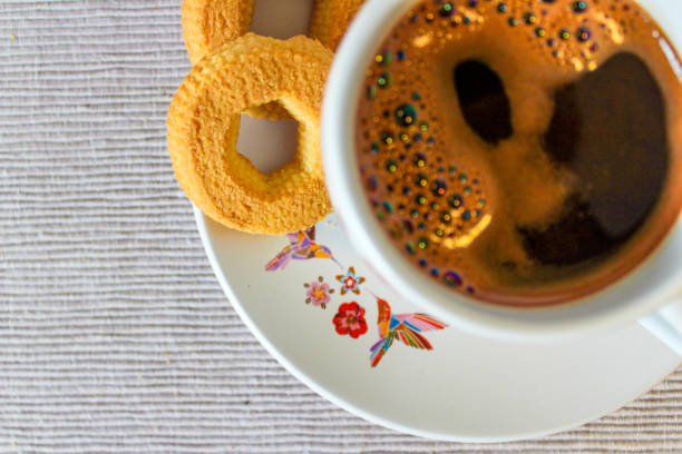 Coffee with cookies stock photo