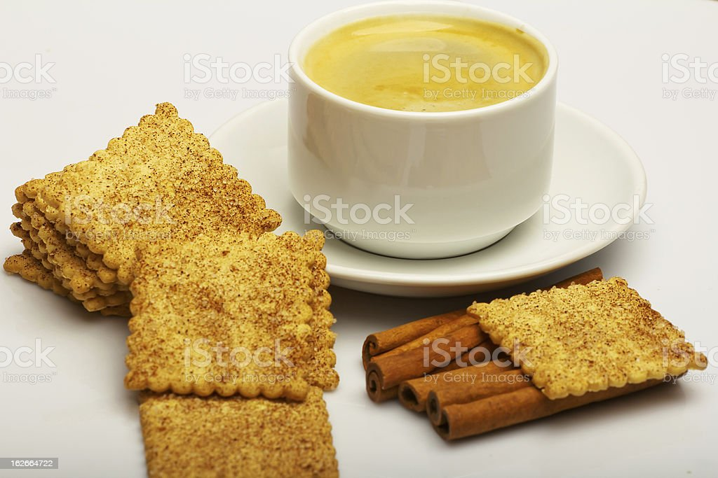 Coffee with cookies. royalty-free stock photo