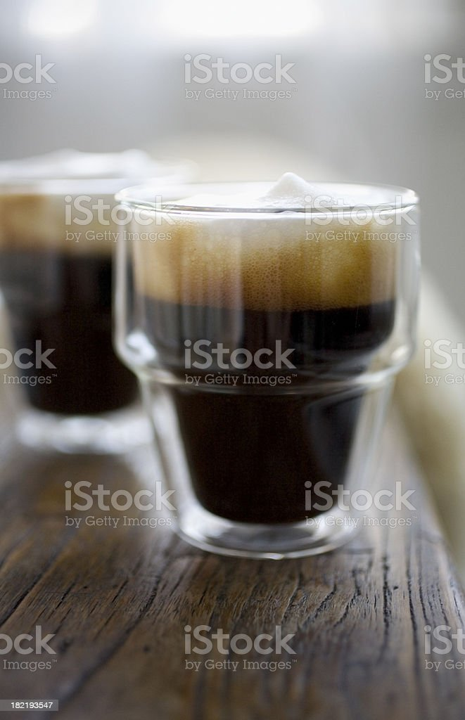 Coffee with foamed milk royalty-free stock photo