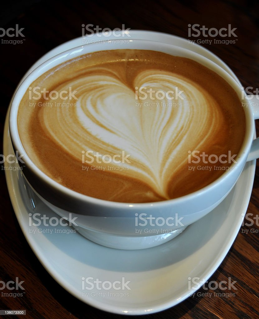 Coffee With Heart royalty-free stock photo
