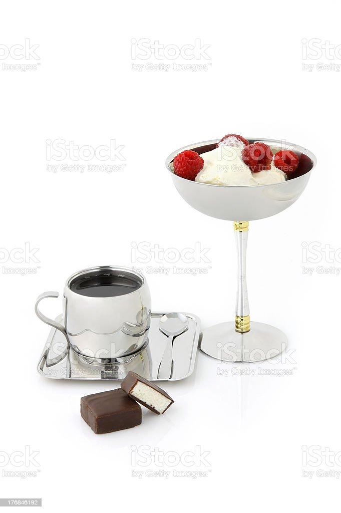 Coffee with ice-cream royalty-free stock photo