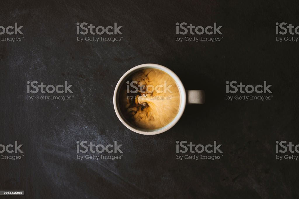 Coffee with milk on the table stock photo