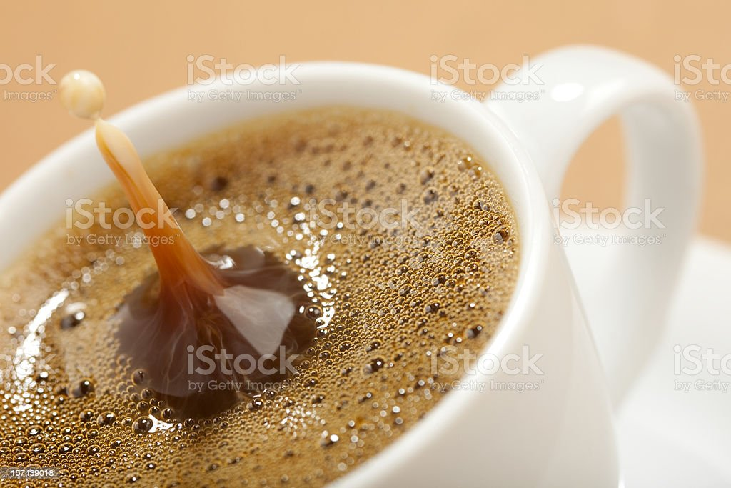 Coffee with milk. royalty-free stock photo