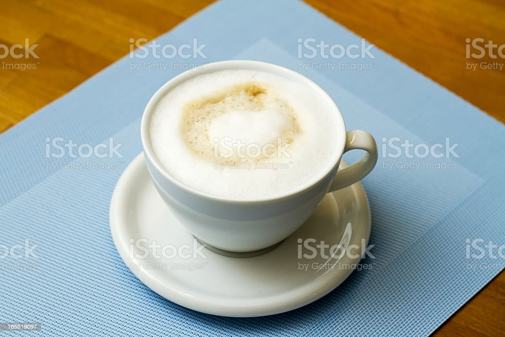 coffee with milk royalty-free stock photo