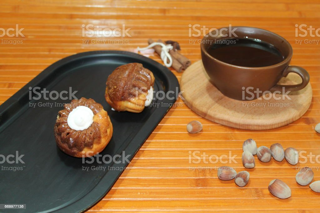 Coffee with muffins foto stock royalty-free