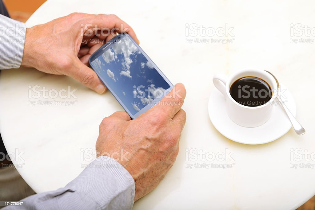 Coffee with Smart Phone royalty-free stock photo