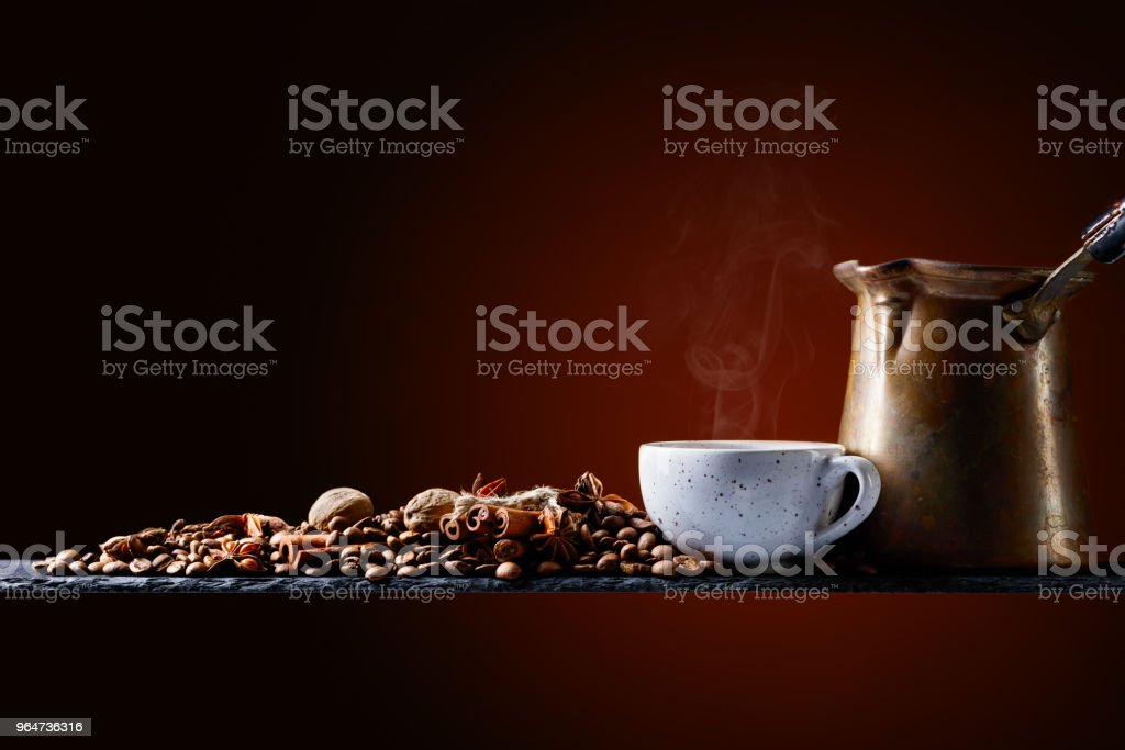 Coffee with spices. royalty-free stock photo