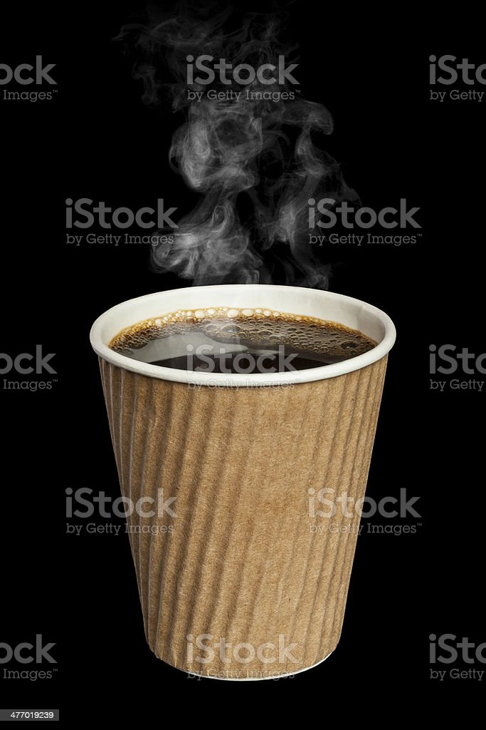 Coffee with Steam stock photo