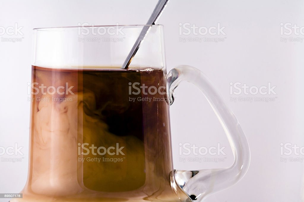 Coffee with Swirling Cream 免版稅 stock photo