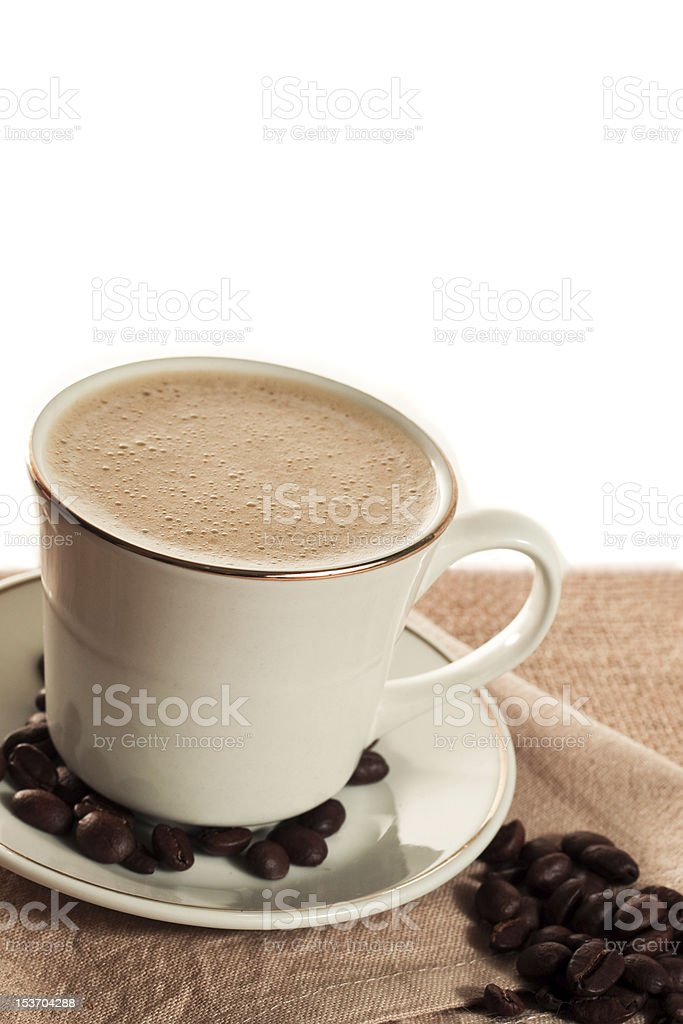 Coffee with white copy spice royalty-free stock photo
