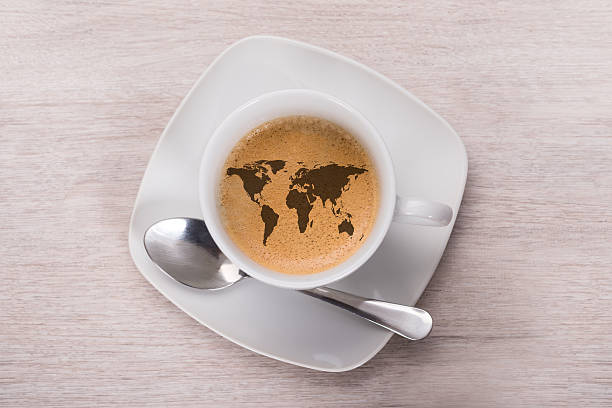 Royalty Free Coffee Cup With Global World Map Pictures Images And