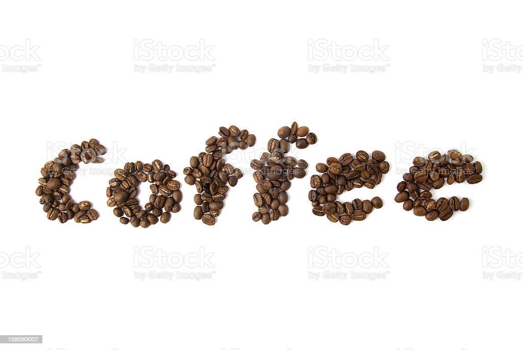 coffee word royalty-free stock photo