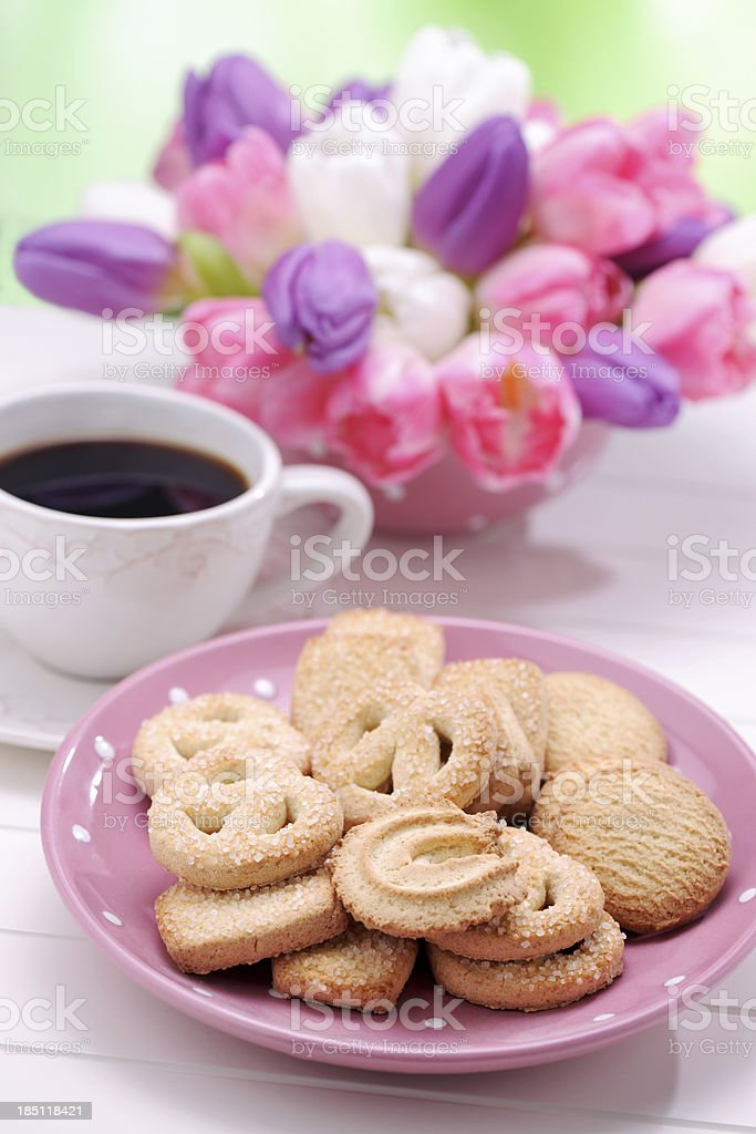 Coffee&Cookie Time royalty-free stock photo