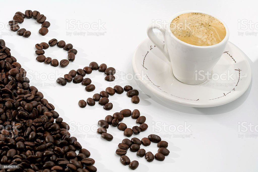 coffee-beens background royalty-free stock photo