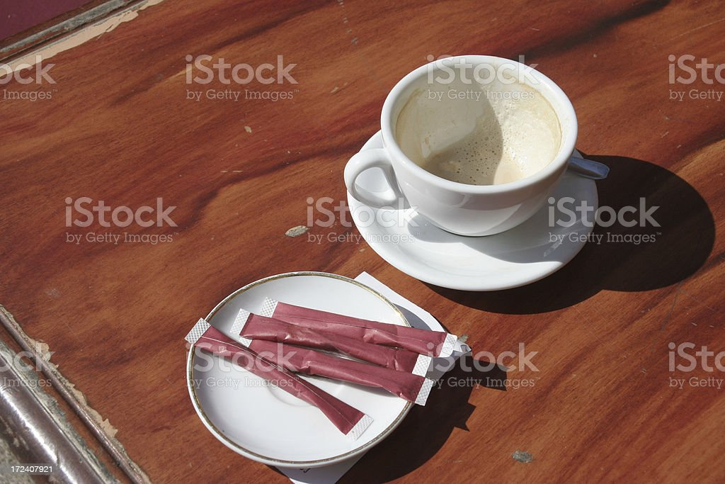 coffeebreak on the cours mirabeux in aix de provence royalty-free stock photo