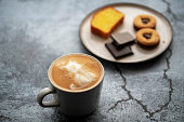 coffee,chocolate and cookies