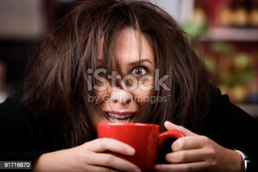 istock Coffee-Crazed Woman 91716670