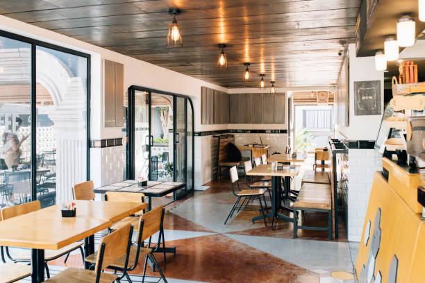 Coffeeshop interior stock photo