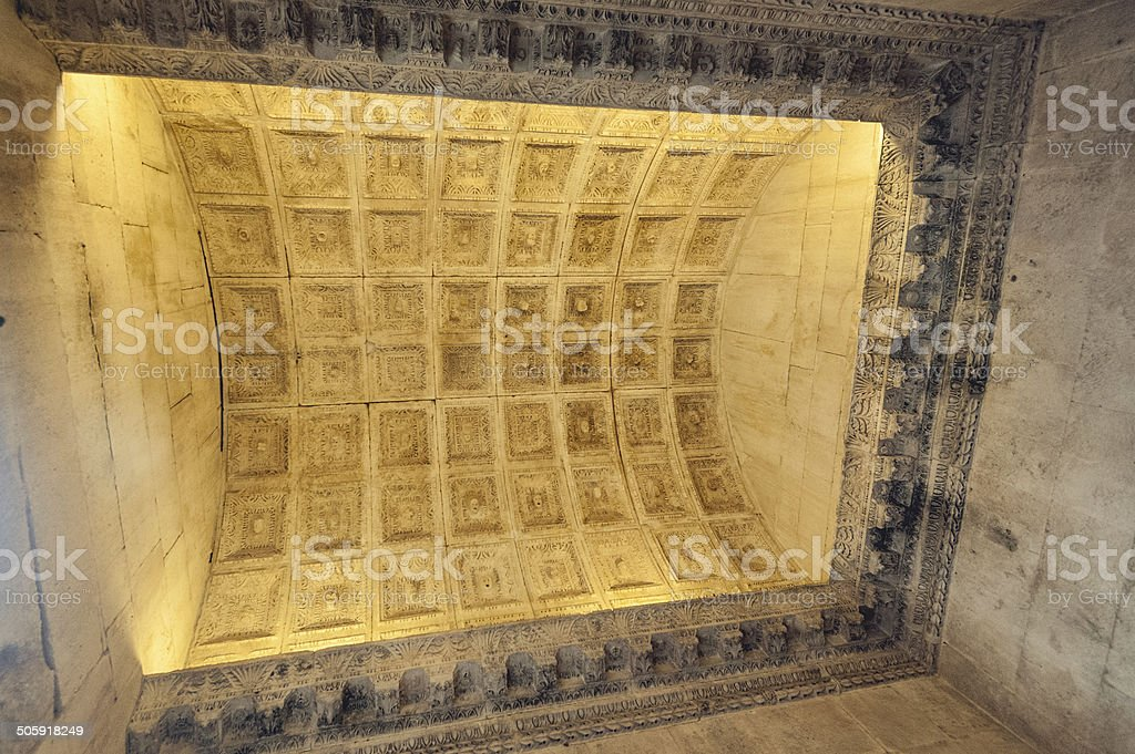 Coffered ceiling stock photo