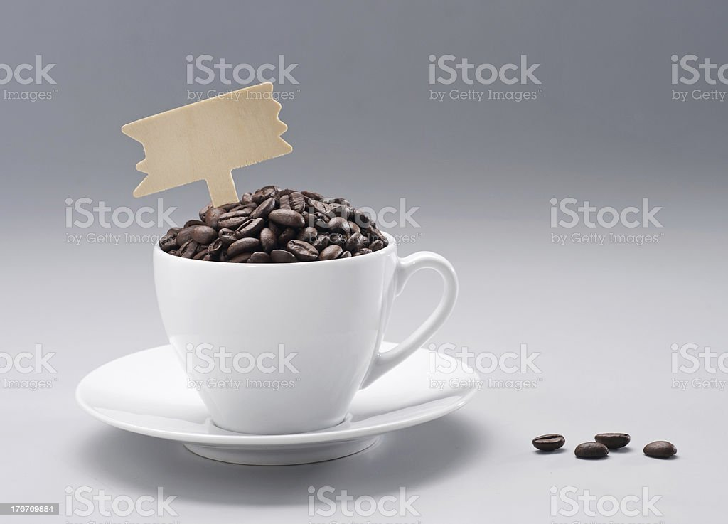 cofffee bean with cup royalty-free stock photo