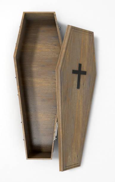 Coffin Open stock photo