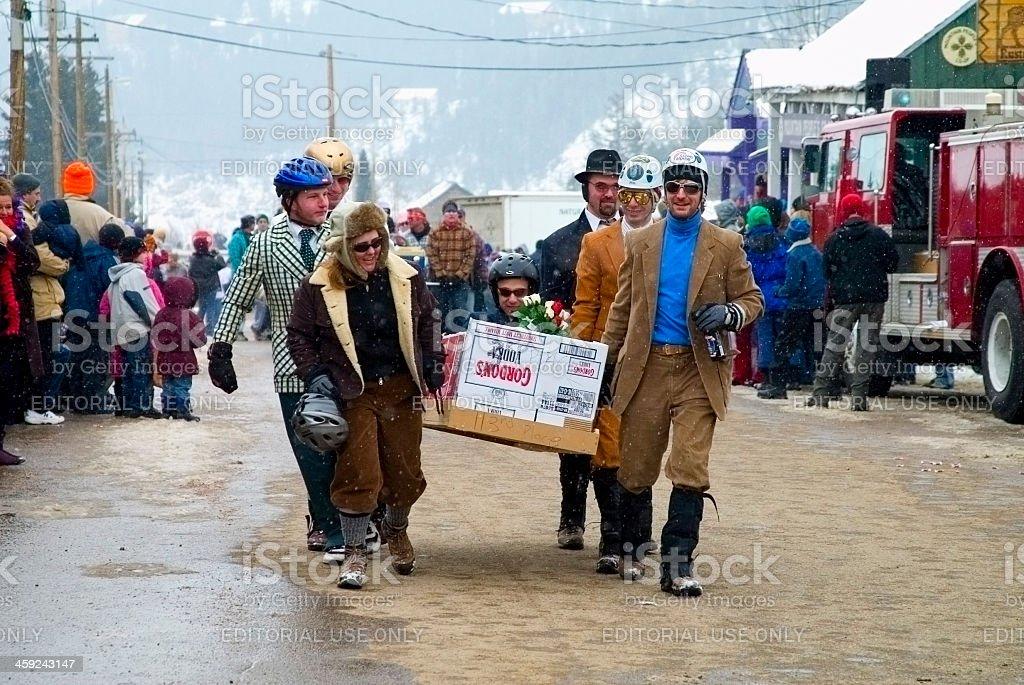 Coffin Parade At Frozen Dead Guy Days Nederland Colorado Stock Photo