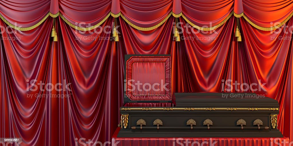 Coffin royalty-free stock photo