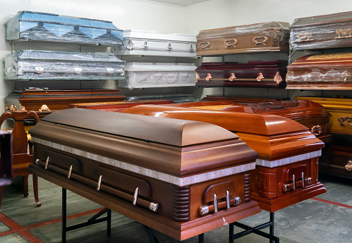 Coffins For Sale Stock Photo - Download Image Now