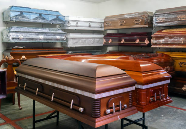 Coffins for Sale stock photo