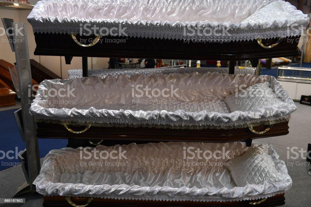 Coffins foto de stock libre de derechos