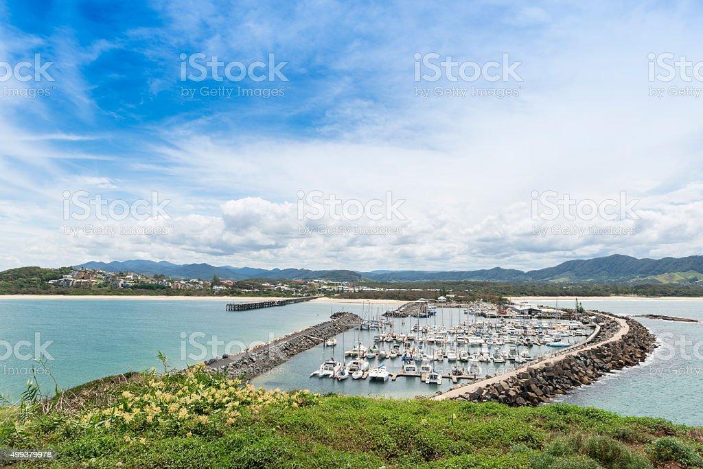 Coffs Harbour from Muttonbird Island stock photo