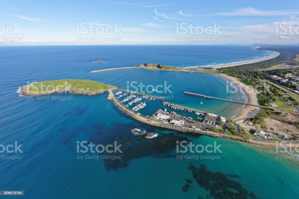 Coffs Harbour Marina looking south stock photo