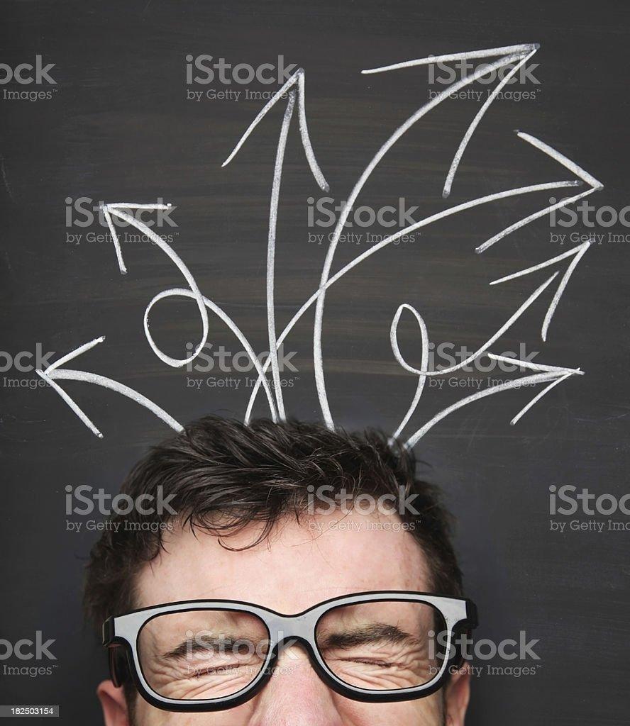 Cofused royalty-free stock photo