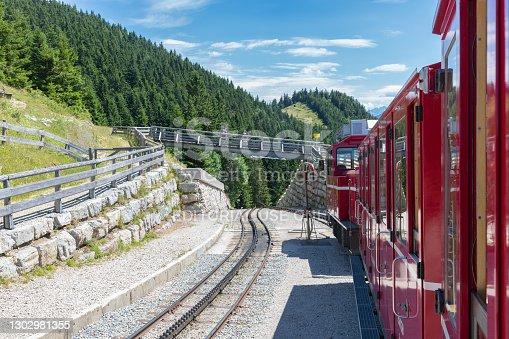 Sankt Wolfgang, Austria - Juli 19, 2017: Cog Railway to top Schafberg near Austrian Sankt Wolfgang am Wolfgangsee