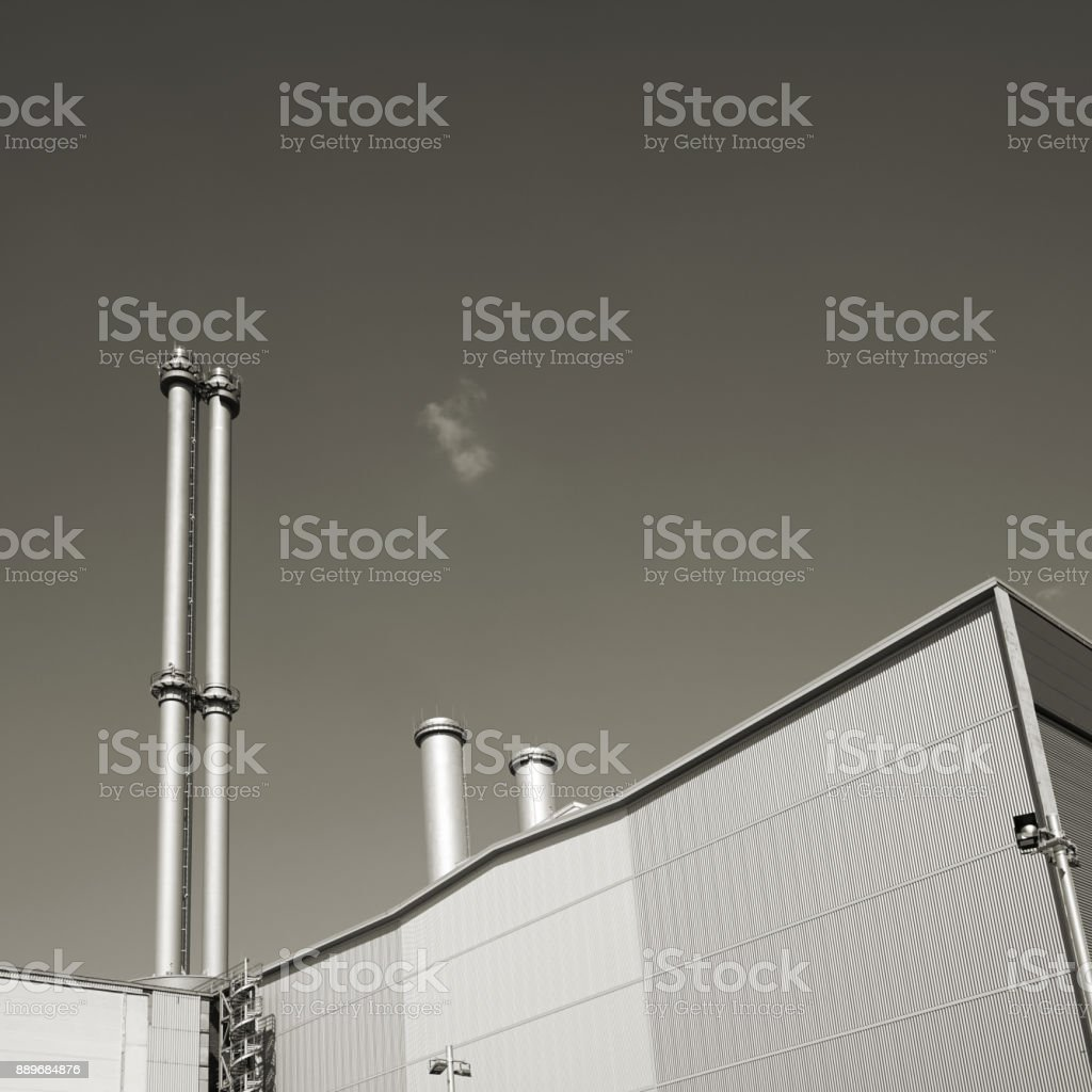 cogeneration plant in the city center of Berlin stock photo
