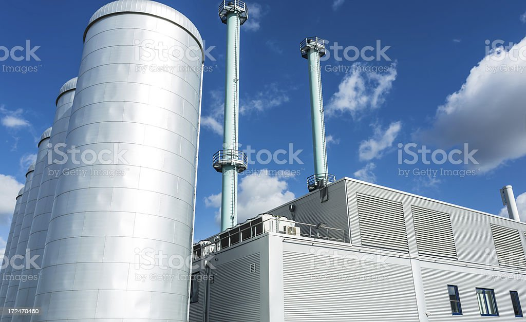 Cogeneration Plant stock photo