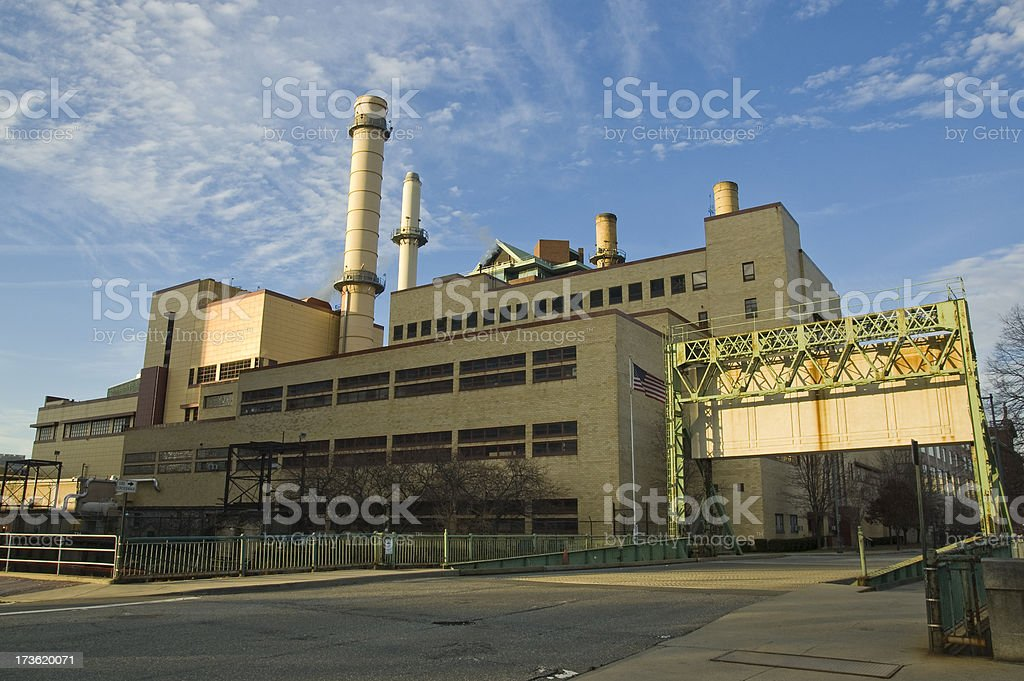Cogeneration Plant (Steam and Electricity) stock photo