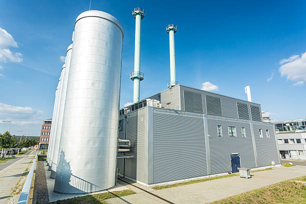 cogeneration plant - cogeneration plant stock photos and pictures