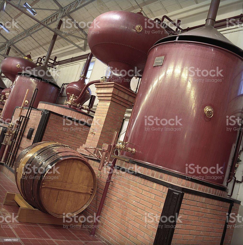 Cognac Brandy distillery royalty-free stock photo