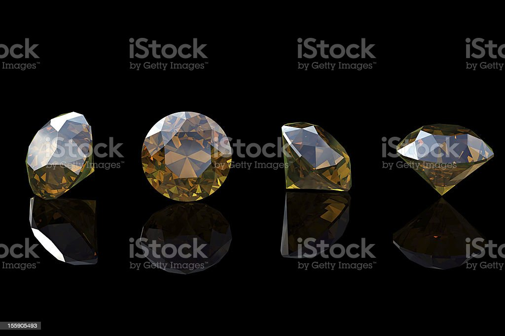 Cognac diamond. Collections of jewelry gems royalty-free stock photo