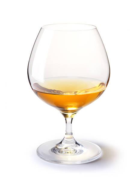 cognac Glas auf einem weißen – Foto