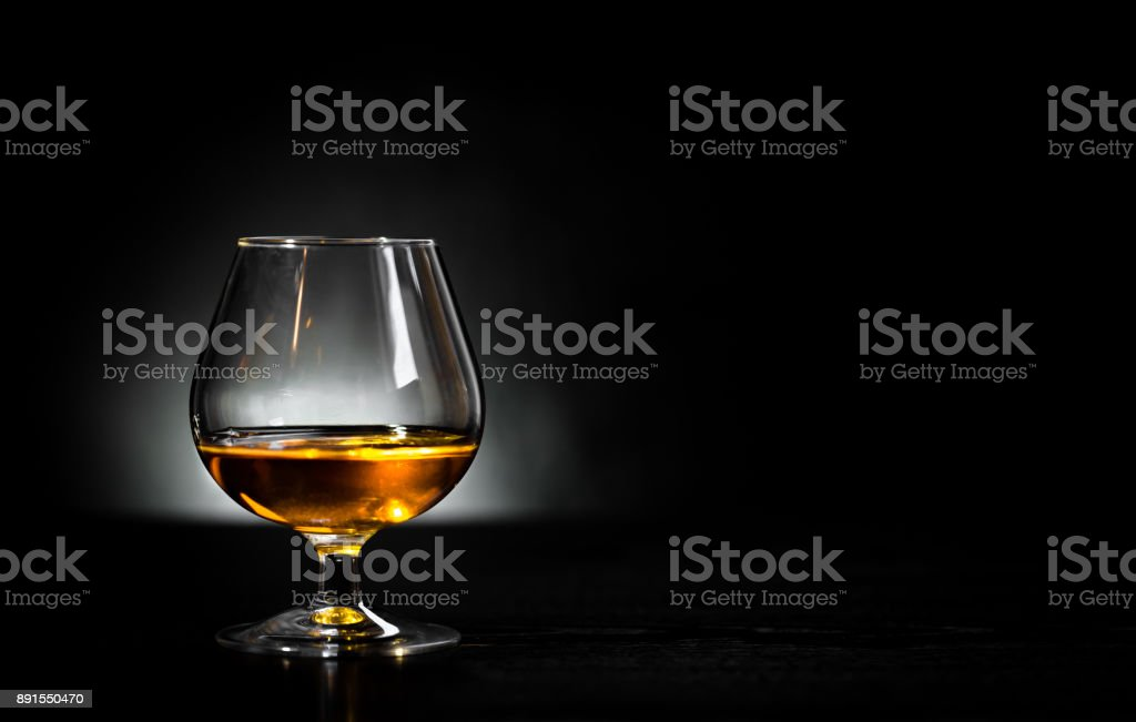 Cognac glass stock photo