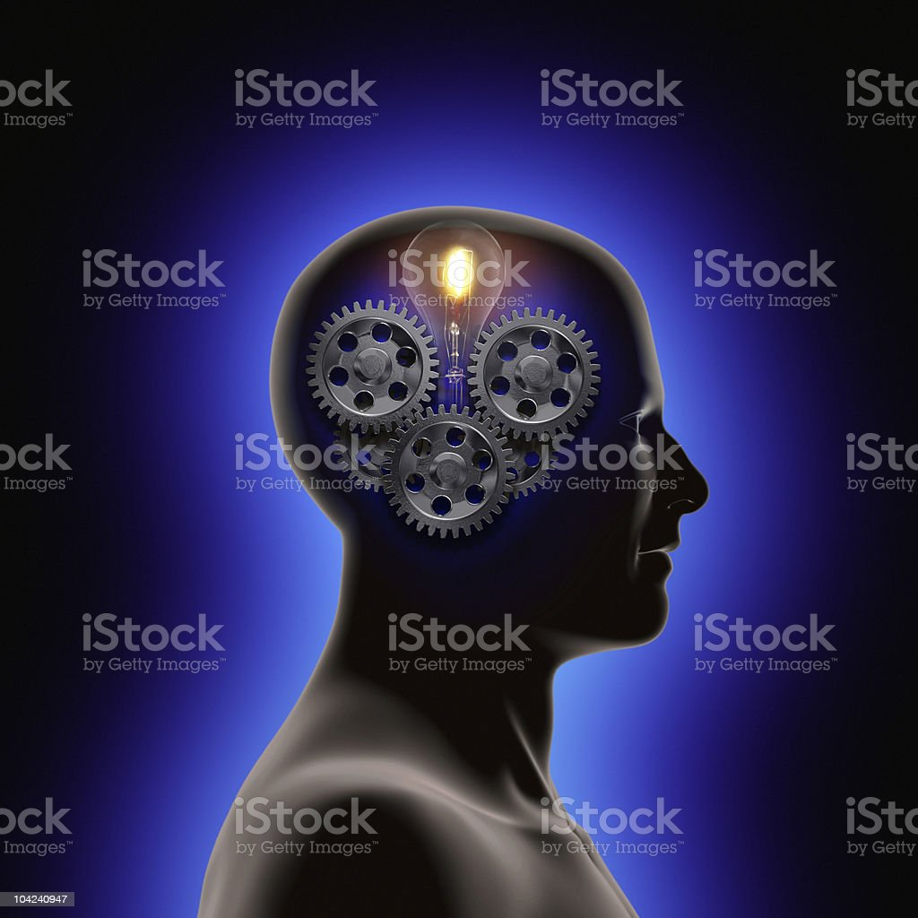 Cognition royalty-free stock photo