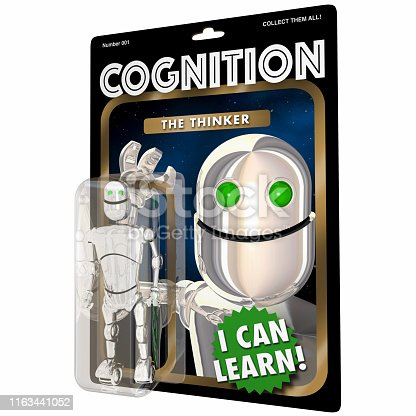Cognition Thinking Learning Robot AI Artificial Intelligence 3d Illustration