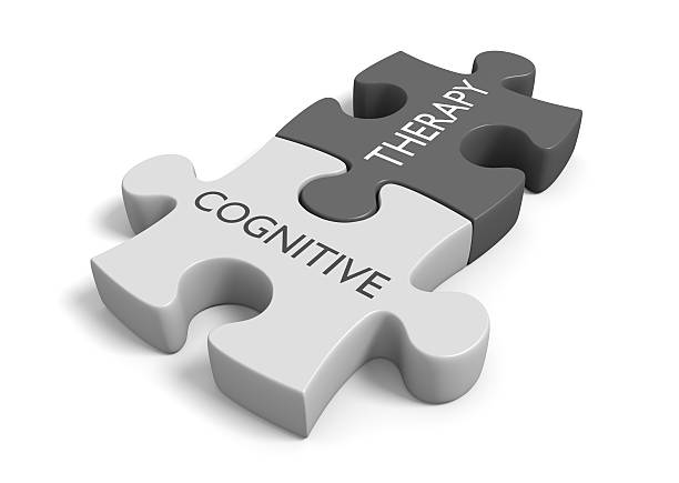 Cognitive therapy for dealing with thoughts, feelings, and behavior stock photo